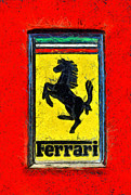 Car Mascot Painting Framed Prints - Ferrari logo Framed Print by George Atsametakis