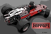 Hand Crafted Art - Ferrari Race Car by George Pedro