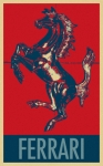 Stencil Portrait Posters - FERRARI STALLION in HOPE Poster by Rob Hans