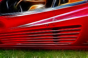 Intake Art - Ferrari Testarossa Red by Paul Ward