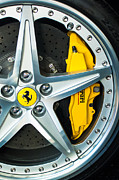 Transportation Tapestries Textiles Prints - Ferrari Wheel 3 Print by Jill Reger