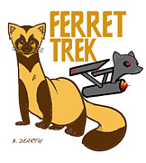 Ferrets Digital Art - Ferret Trek by Brian Dearth