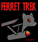 Ferret Digital Art - Ferret Trek Ship by Brian Dearth