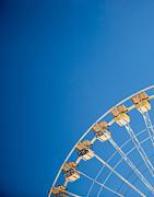 Ferris Wheel 1 Print by Rebecca Cozart