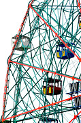 Coney Island Digital Art Prints - Ferris Wheel Print by Anahi DeCanio