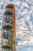 Amusements Framed Prints - Ferris Wheel Framed Print by Antony McAulay