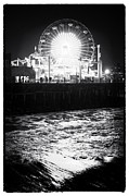 Ferris Wheel Night Photography Framed Prints - Ferris Wheel at Night Framed Print by John Rizzuto