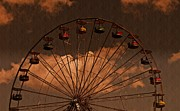 David Dehner Prints - Ferris wheel At Twilight Print by David Dehner