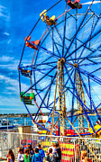 Ferris Wheel - Balboa Fun Zone Print by Jim Carrell