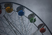 Mechanism Digital Art Metal Prints - Ferris Wheel Metal Print by Dave Gordon