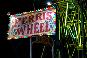 Florescent Lights Prints - Ferris Wheel Print by Don Durante Jr