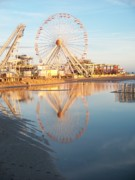 Amusements Framed Prints - Ferris Wheel Jersey Shore 2 Framed Print by Eric  Schiabor