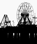 Amusements Framed Prints - Ferris Wheel Jersey Shore Framed Print by Eric  Schiabor