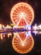Luzern Posters - Ferris Wheel Reflections Poster by George Oze