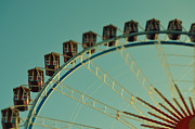 Muenchen Framed Prints - Ferris Wheel tilt shift Octoberfest in Munich Framed Print by Sabine Jacobs