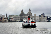 Ferry Across The Mersey Print by Anthony Beyga