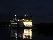 Keith Rautio Prints - Ferry At Night Print by Keith Rautio
