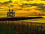 Nick Zelinsky - Ferry at Sunset
