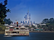 Walt Disney World Photographs Framed Prints - Ferry Boat Magic Kingdom Walt Disney World  Framed Print by Thomas Woolworth