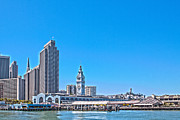 Sausalito Metal Prints - Ferry Building Marketplace San Francisco California Metal Print by Llewellyn Chin
