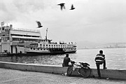 Docking Prints - Ferryboat in Karsiyaka Port in Izmir Print by Ilker Goksen