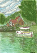 Ferryman Prints - Ferrymans Cottage Print by Tracey Williams