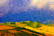 Instability Digital Art - Fertile Earth and Fermenting Sky by Chuck Mountain