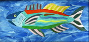 Festival Glass Art - Festival Fish by Charles McDonell