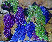 Bunch Of Grapes Painting Framed Prints - Festival of Grapes Framed Print by Eloise Schneider
