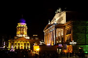 Festival Of Light Framed Prints - Festival of Lights Gendarmenmarkt Berlin Framed Print by Christiane Schulze