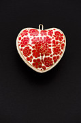 Hand Crafted Art - Festive Heart by Anne Gilbert