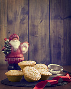 Ribbon Posters - Festive Mince Pies Poster by Christopher and Amanda Elwell