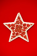 Hand Crafted Art - Festive Star by Anne Gilbert