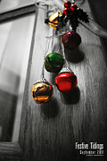 Holidays Digital Art Metal Prints - Festive Tidings Metal Print by Jeff Bell