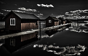 Wood Mill Photos - Fetsund Timber Booms part I by Erik Brede