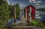 Fetsund Timber Booms Part II Print by Erik Brede