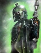 Boba Fett Paintings - Fett by Jacob Logan
