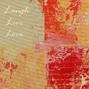Feuilleton De Nature - Laugh Live Love - 01at01 Print by Variance Collections