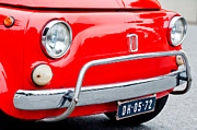 Fiat 500 Framed Prints - Fiat 500 L Front End Framed Print by Jill Reger
