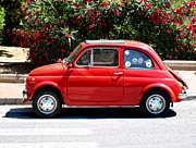 Fiat 500 Framed Prints - Fiat 500 Framed Print by Philip Guiver