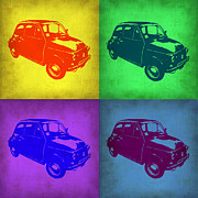 Fiat 500 Framed Prints - Fiat 500 Pop Art 1 Framed Print by Irina  March