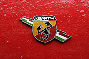 Fiat 500 Framed Prints - Fiat Abarth Badge Framed Print by Norman Pogson