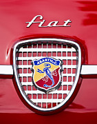 Pebble Beach 2011 Prints - Fiat Emblem 2 Print by Jill Reger