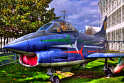 Plane Acrylic Prints - Fiat G91 Pan Tactical Fighter by David Patterson