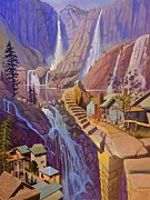 California Paintings - Fibonaccis Stairs by Art West
