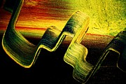 Pallet Knife Prints - Fictional Erratic Rings Of Saturn Print by Michael Kulick
