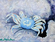 Fiddler Crab Framed Prints - Fiddler Crab Framed Print by Anne Marie Brown