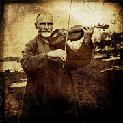 Violin Digital Art - Fiddler in the Park by Fran Hogan