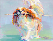 Spaniel Puppy Paintings - Fiddlesticks by Kimberly Santini