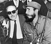 Greater Antilles Photos - Fidel Castro And Urrutia by Underwood Archives